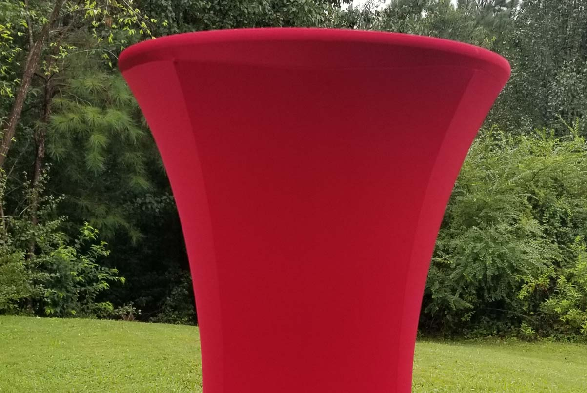 highboy with red spandex