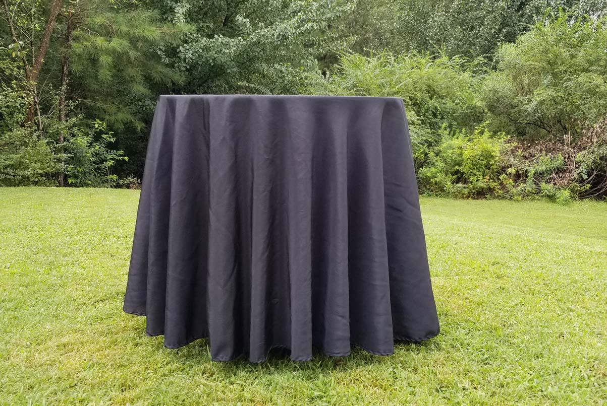 lowboy with black cloth