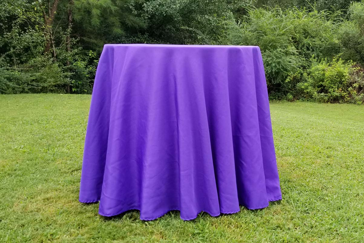 lowboy with purple cloth