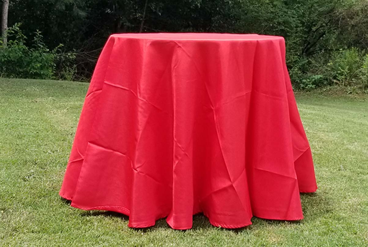 lowboy with red cloth